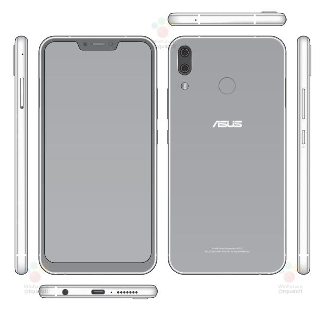 "ASUS ZenFone 5 将具备 iPhone X 般的 ""M 字额""?Source:WinFuture"